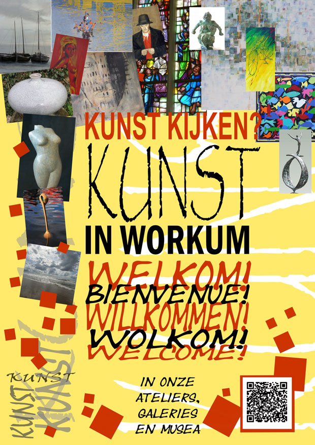 Openingstijden musea galeries ateliers flyer Kunst in Workum