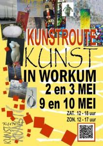 Poster Kunst in Workum kunstroute 2015
