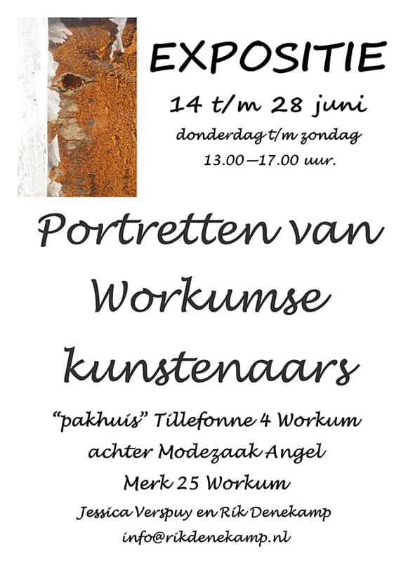 expositie portretten Workumse kunstenaars