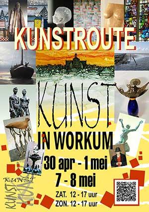 Kunst In Workum poster kunstroute 2016