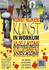 Kunstroute Workum - flyer kunst kijken