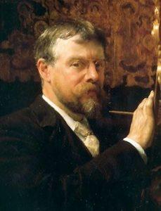 in de spotlights- Lourens Alma Tadema zelfportret