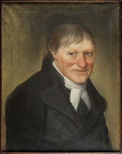 in de spotlights portret van Sjollema