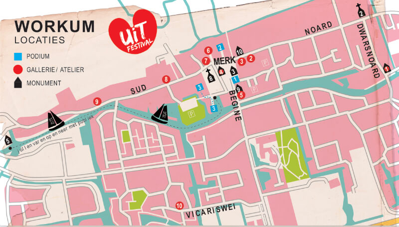 Uitfestival Workum plattegrond