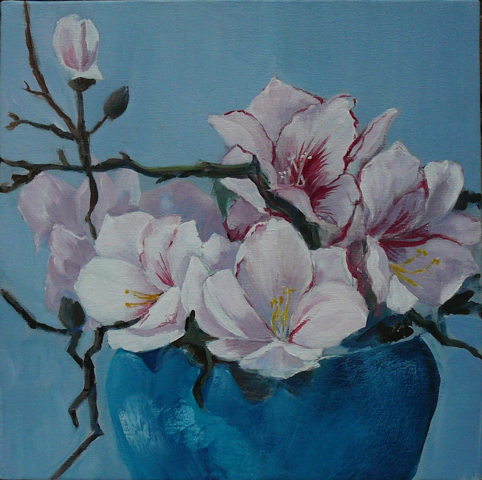 Bloemen schilderen met acrylverf stap voor stap bb92 for Schilderijen van bloemen